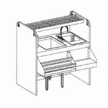 Glastender CS-42X26-CCW Assembly Ice Bin/Cocktail Station