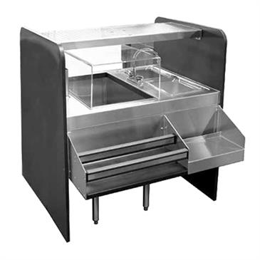 Glastender CS-42X32-CCW-S Assembly Ice Bin/Cocktail Station