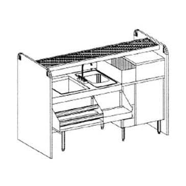 Glastender CS-66X26-CCW-S Complete Ice Bin/Cocktail Station
