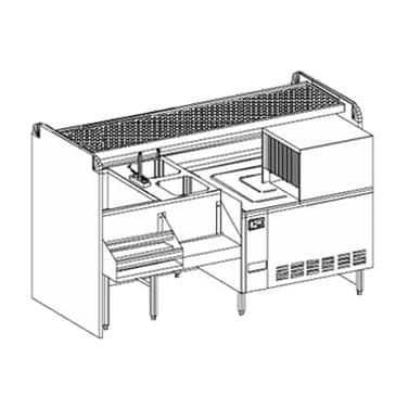 Glastender CS-72-CCW-S Complete Ice Bin/Cocktail Station