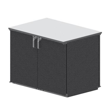 Glastender LNP60 Low Profile Narrow Door Pass-Thru Refrigerated