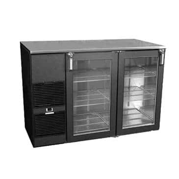 Glastender ND72WR Two-Zone Narrow Door Refrigerated Back Bar