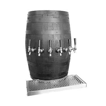 Glastender WB-3-B Wood Barrel Draft Dispensing Tower