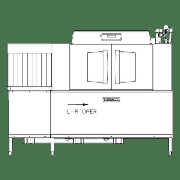 Hobart CLCS86EN-EGR+BUILDUP Conveyor Dishwasher