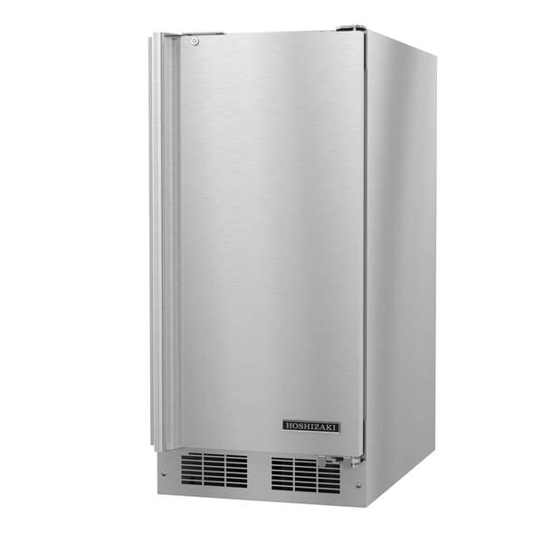 Hoshizaki HR15A 14.8'' 1 Section Undercounter Refrigerator with 1 Right Hinged Solid Door and Front Breathing Compressor