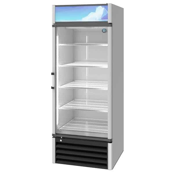 Hoshizaki RM-26-HC 30'' Silver 1 Section Swing Refrigerated Glass Door Merchandiser