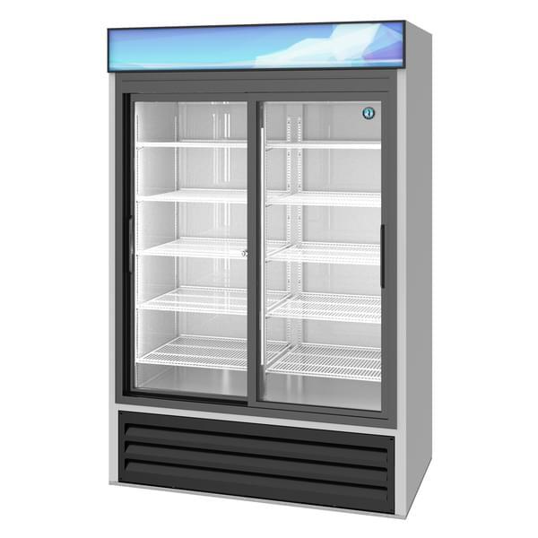 Hoshizaki RM-45-SD-HC 51'' Silver 2 Section Sliding Refrigerated Glass Door Merchandiser