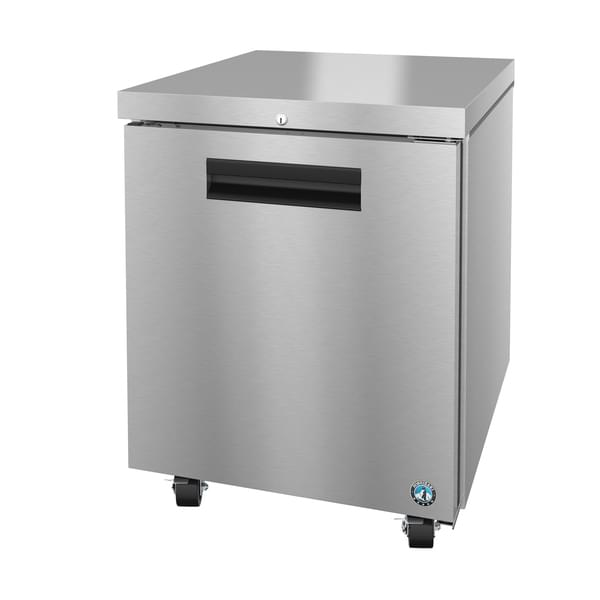 Hoshizaki UF27A 27'' 1 Section Undercounter Freezer with 1 Right Hinged Solid Door and Front Breathing Compressor