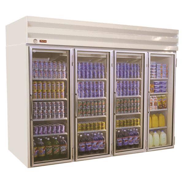 Howard-McCray GF102-FF 103.75'' 102.0 cu. ft. 4 Section White Glass Door Merchandiser Freezer