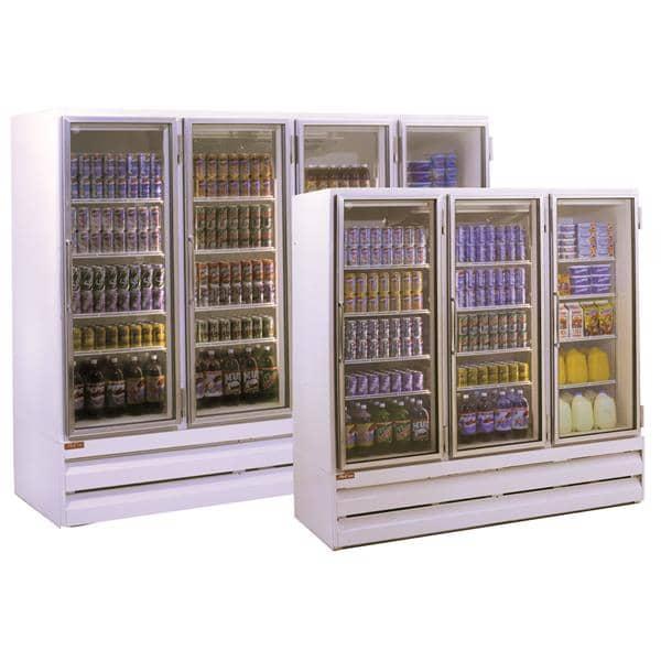 Howard-McCray GF102BM-FF 103.75'' 102.0 cu. ft. 4 Section White Glass Door Merchandiser Freezer