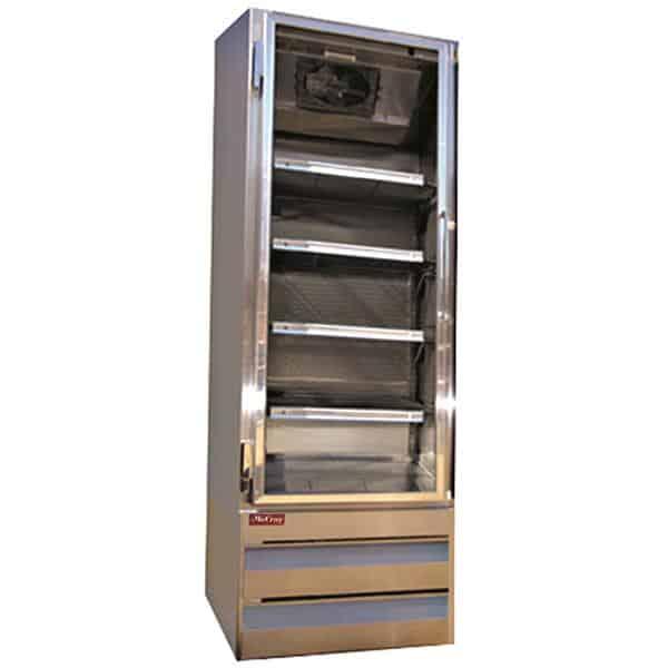 Howard-McCray GF19BM-S-FF 26.50'' 19.0 cu. ft. 1 Section Silver Glass Door Merchandiser Freezer