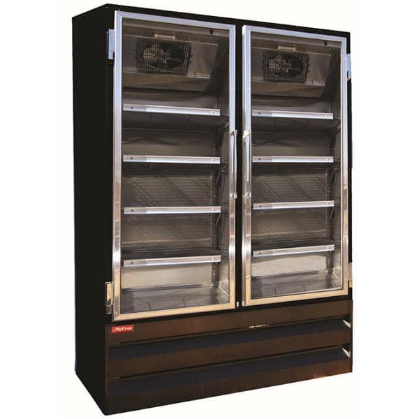 Howard-McCray GF42BM-B-FF 52.25'' 42.0 cu. ft. 2 Section Black Glass Door Merchandiser Freezer