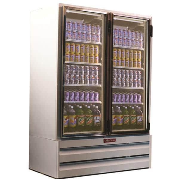 Howard-McCray GF42BM-LT 52.25'' 42.0 cu. ft. 2 Section White Glass Door Merchandiser Freezer