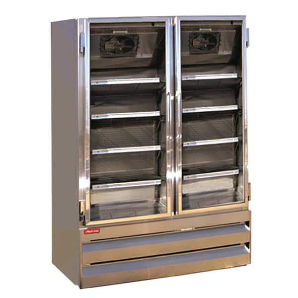 Howard-McCray GF42BM-S-FF 52.25'' 42.0 cu.ft. 2 Section Silver Glass Door Merchandiser Freezer
