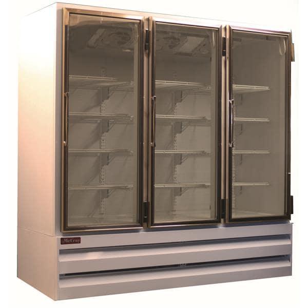 Howard-McCray GF65BM-S-FF 78.00'' 65.0 cu. ft. 3 Section Silver Glass Door Merchandiser Freezer