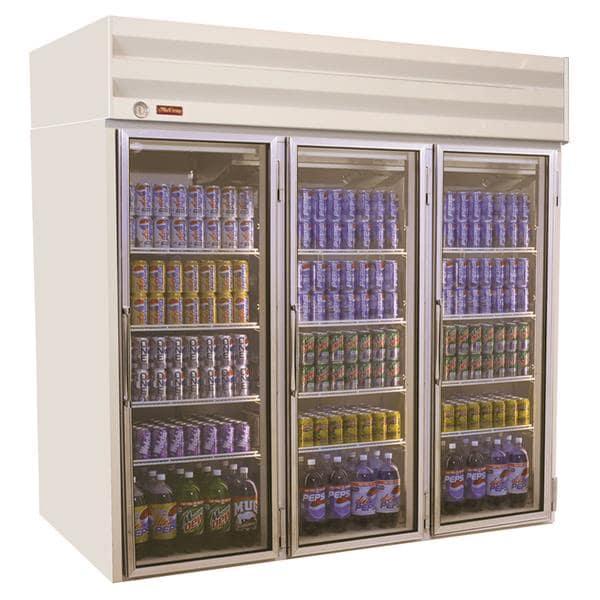 Howard-McCray GF75-LT 78.00'' 75.0 cu.ft. 3 Section White Glass Door Merchandiser Freezer