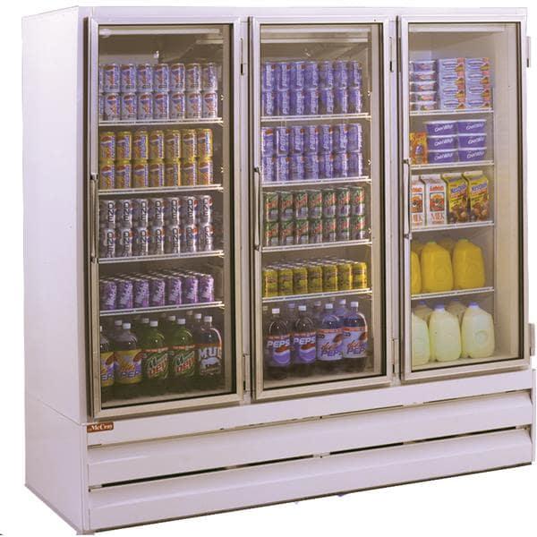 Howard-McCray GF75BM-LT-B 78.00'' 75.0 cu. ft. 3 Section Black Glass Door Merchandiser Freezer