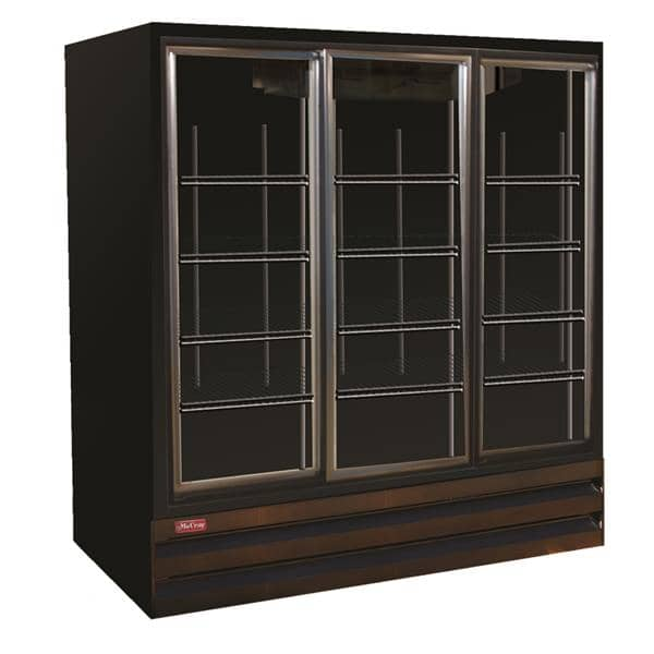 Howard-McCray GSR75BM-B 78.00'' Section Refrigerated Glass Door Merchandiser