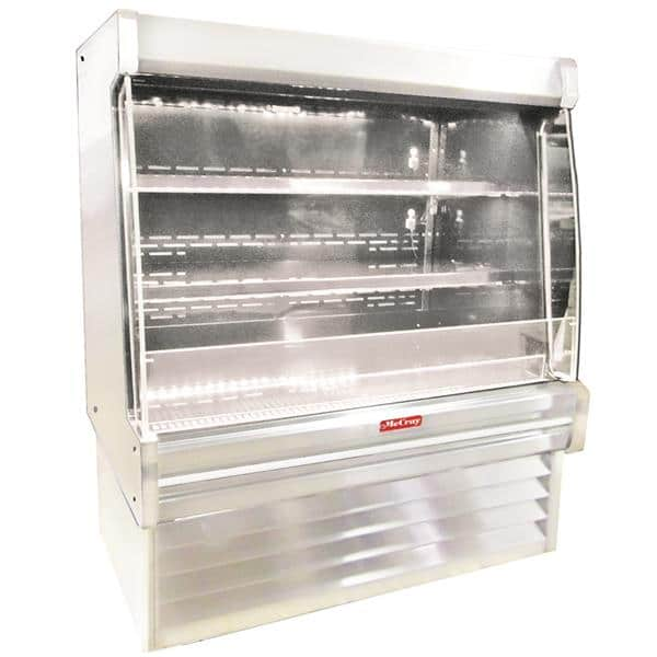 Howard-McCray R-OD35E-3L-S-LED 39.00'' Stainless Steel Vertical Air Curtain Open Display Merchandiser with 2 Shelves