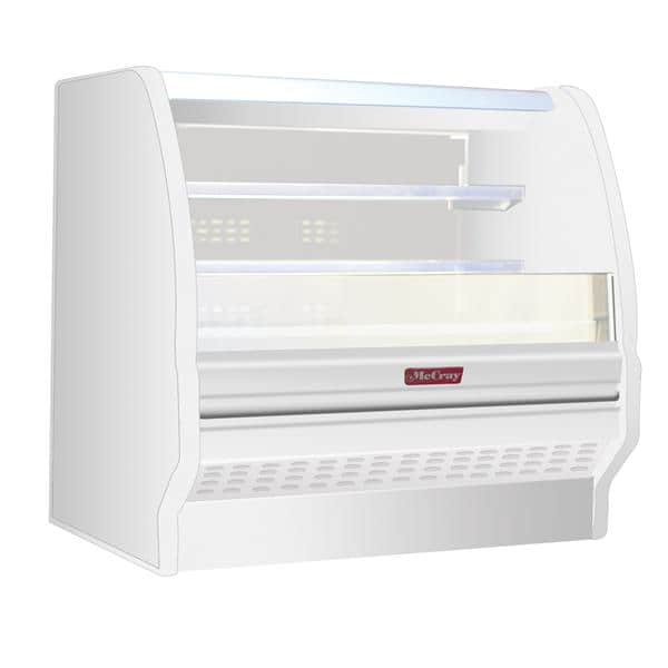 Howard-McCray R-OD40E-6L-LED 75.00'' White Horizontal Air Curtain Open Display Merchandiser with 2 Shelves