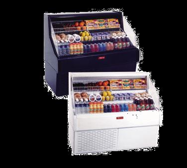 Howard-McCray R-OS30E-3C-B 39.00'' Black Horizontal Air Curtain Open Display Merchandiser with 3 Shelves