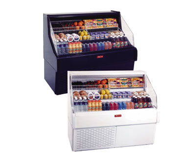 Howard-McCray R-OS30E-5C-B 63.00'' Black Horizontal Air Curtain Open Display Merchandiser with 3 Shelves