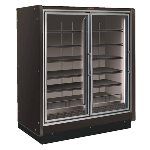 Howard-McCray RIF2-24-LED-B 54.88'' 125.0 cu. ft. 2 Section Black Glass Door Merchandiser Freezer