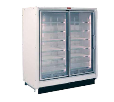 Howard-McCray RIF2-24-LED 54.88'' 125.0 cu. ft. 2 Section White Glass Door Merchandiser Freezer