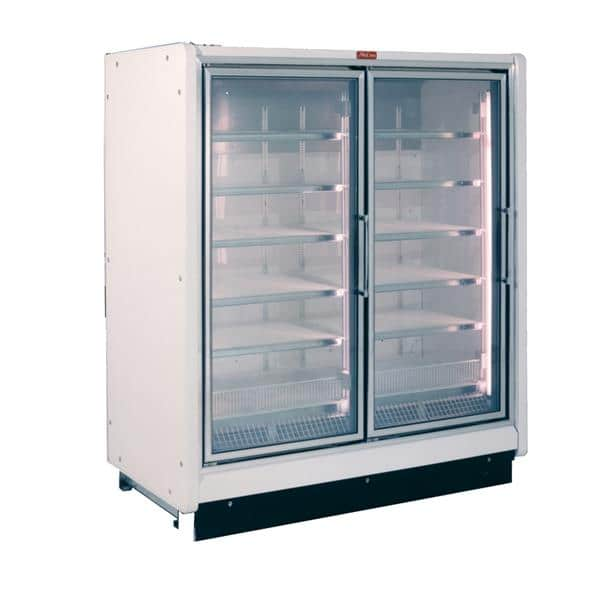 Howard-McCray RIF2-30-LED-S 68.00'' 153.0 cu. ft. 2 Section Silver Glass Door Merchandiser Freezer