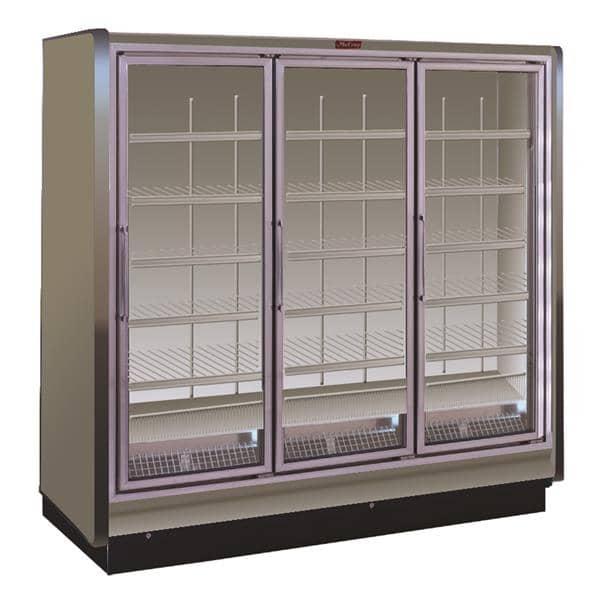 Howard-McCray RIF3-30-LED 98.50'' 221.0 cu. ft. 3 Section White Glass Door Merchandiser Freezer