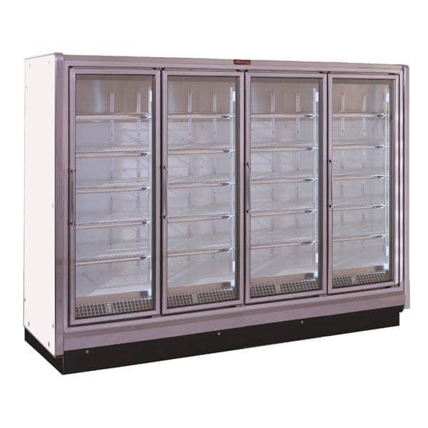 Howard-McCray RIF4-24-LED 102.38'' 221.0 cu. ft. 4 Section White Glass Door Merchandiser Freezer