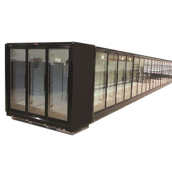 Howard-McCray RIF4-30-LED-B 128.50'' 277.0 cu. ft. 4 Section Black Glass Door Merchandiser Freezer