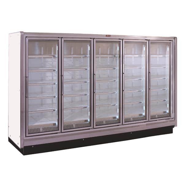 Howard-McCray RIF5-30-LED 162.00'' 353.0 cu. ft. 5 Section White Glass Door Merchandiser Freezer