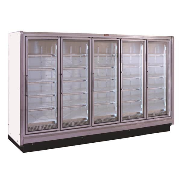 Howard-McCray RIF5-30-LED-S 162.00'' 353.0 cu.ft 5 Section Silver Glass Door Merchandiser Freezer