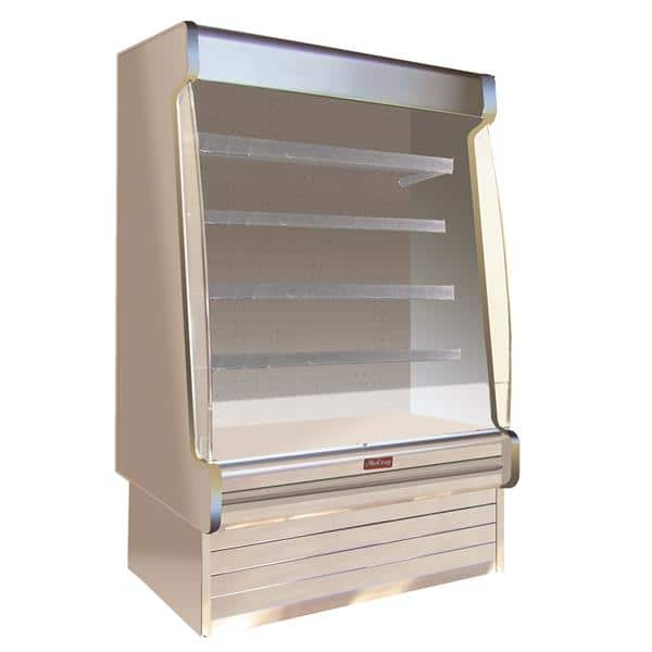Howard-McCray SC-OD35E-4S-S-LED 51.00'' Stainless Steel Vertical Air Curtain Open Display Merchandiser with 4 Shelves