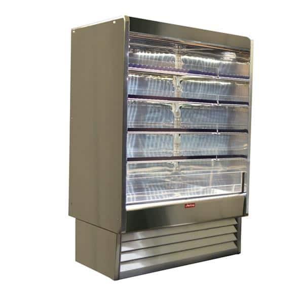 Howard-McCray SC-OD35E-5-LED 63.00'' White Vertical Air Curtain Open Display Merchandiser with 4 Shelves