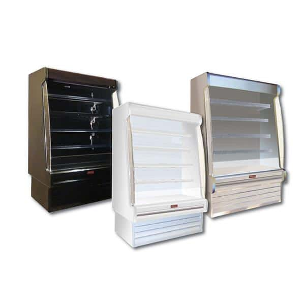 Howard-McCray SC-OD35E-6S-LED 75.00'' White Vertical Air Curtain Open Display Merchandiser with 4 Shelves