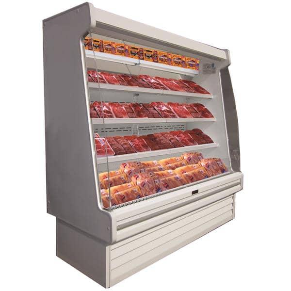 Howard-McCray SC-OM35E-4S-LED 51.00'' White Vertical Air Curtain Open Display Merchandiser with 4 Shelves