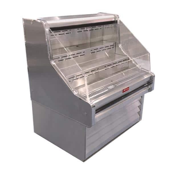 Howard-McCray SC-OS35E-6-LED 75.00'' White Horizontal Air Curtain Open Display Merchandiser with 3 Shelves