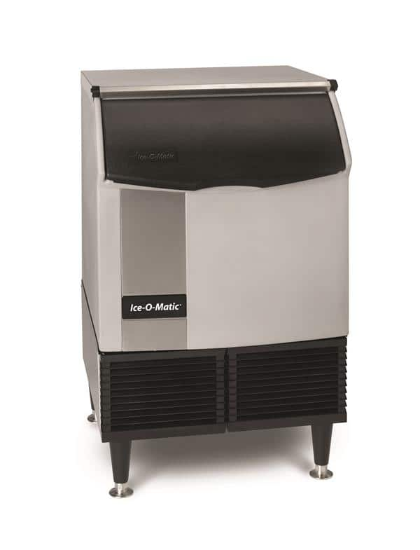 """ICE-O-Matic ICEU150FW 24.54"""" Full-Dice Ice Maker With Bin, Cube-Style - 100-200 lbs/24 Hr Ice Production, Water-Cooled, 115 Volts"""