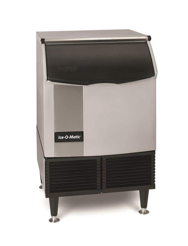 """ICE-O-Matic ICEU220FA 24.54"""" Full-Dice Ice Maker With Bin, Cube-Style - 200-300 lbs/24 Hr Ice Production, Air-Cooled, 115 Volts"""