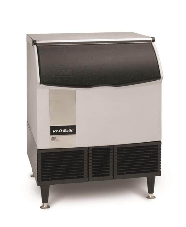 """ICE-O-Matic ICEU300FW 30"""" Full-Dice Ice Maker With Bin, Cube-Style - 300-400 lb/24 Hr Ice Production, Water-Cooled, 115 Volts"""
