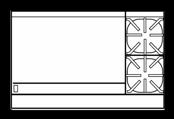 Imperial IR-2-G36-C-XB Restaurant Range