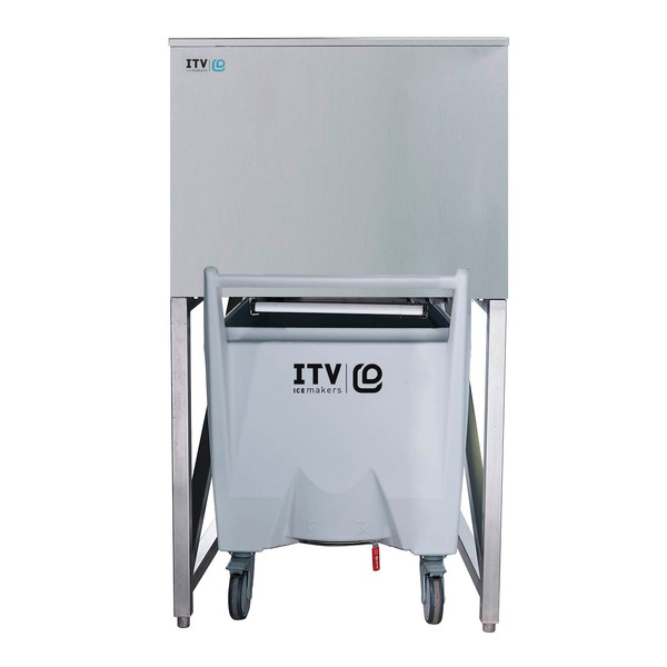 ITV Ice Makers SCS-350 Ice Storage Bin with a single cart
