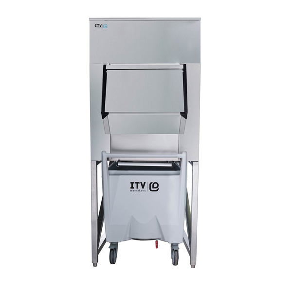 ITV Ice Makers SCS-700 Ice Storage Bin with a single cart