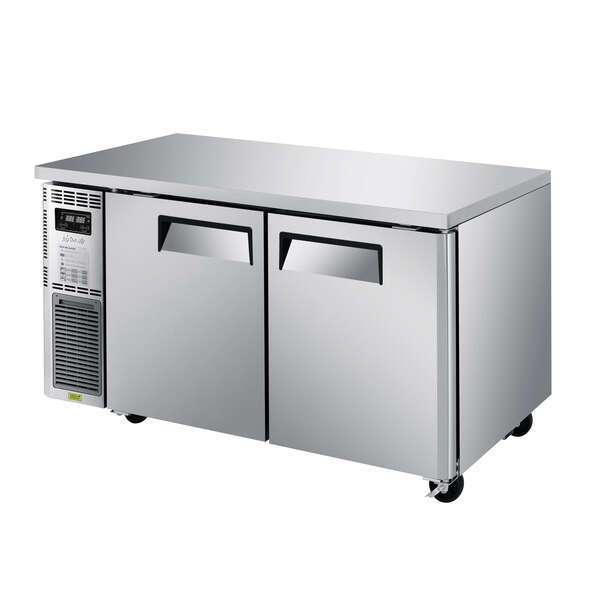 "Turbo Air JURF-60-N J Series, 2-Section 59"" Undercounter Dual-Temp Refrigerator/Freezer"