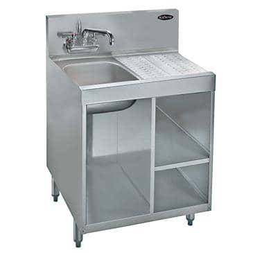 Krowne Metal Metal KR18-24SC-L Royal 1800 Series Underbar Wet Waste Cabinet