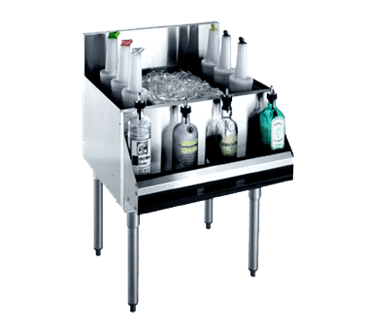 Krowne Metal Metal KR21-24DP Royal 2100 Series Underbar Ice Bin/Cocktail Unit