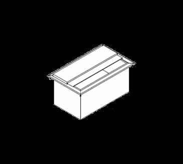 LaCrosse Cooler Cooler DI30IC Drop-In Ice Bin Unit