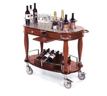 Lakeside Manufacturing Manufacturing 70038 Wine Cart-Bordeaux